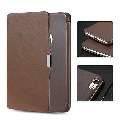 For iPhone 6s 6 plus 5S Samsung PU Leather Flip Classic Case Cover Slim Magnetic
