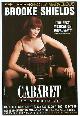 Brooke Shields flyer ad Cabaret Studio 54 Broadway