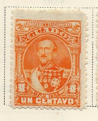 Ecuador 1892 Early Issue Fine Mint Hinged 1c. 115852