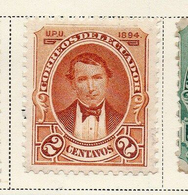 Ecuador 1894 Early Issue Fine Mint Hinged 2c. 115861