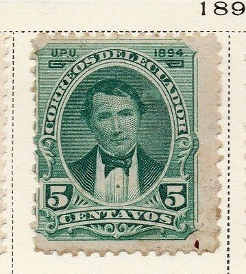 Ecuador 1894 Early Issue Fine Mint Hinged 5c. 115862