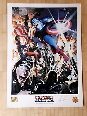 Captain America Kirby By Alex Ross  signed