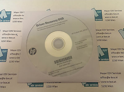 Driver Recovery DVD Kit 764840-B21 for HP ProDesk 400_490 G2