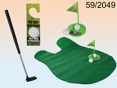 Toilet Golf Set - New & Gift Boxed - Potty Putter Funny Adult Secret Santa Gift