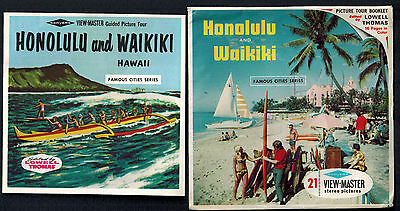 HAWAII Honolulu Waikiki ViewMaster SAWYERS 3 Reel Pack A 123a w Booklet SURFING