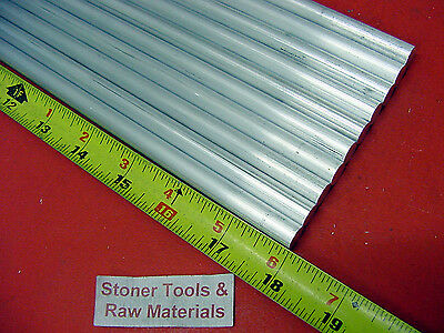 """10 Pieces 1/2"""" ALUMINUM 6061 ROUND ROD 18"""" long .500"""" Solid T651 Lathe Bar Stock"""