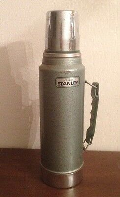 Stanley Aladdin Steel Quart Thermos Classic Green Handle Cup Made in USA