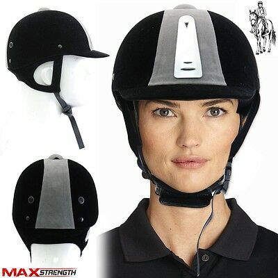 MAXSTRENGTH Horse Riding Helmet Head Safety Hat Equestrain Black Air Vented Hats