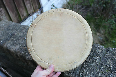 Nice Vintage Wooden Carved Traditional Bread Board – Kitchenalia – Great! –
