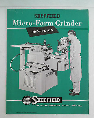 1955 SHEFFIELD Micro-Form Grinder Advertising Booklet
