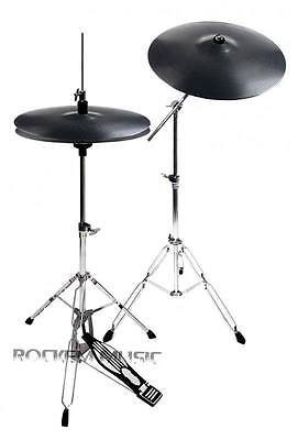 Stagg Plastic Practice Cymbal Set With Mapex Tornado Cymbal Stands