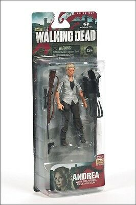 THE WALKING DEAD AMC TV SERIES 4 ANDREA NEW IN FACTORY SEALED BOX