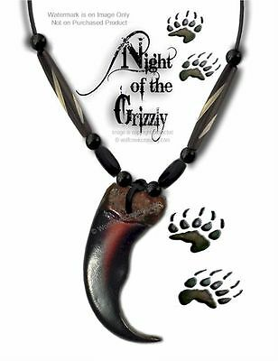 """Bear - Grizzly Claw Necklace Carved Bone Bead 24"""" Leather Jewelry Gift Sale #g5*"""