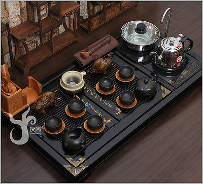 Chinese tea set China's high-grade solid wood tea tray Oriental tea service 30s