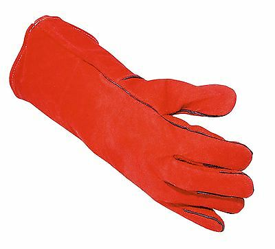 Portwest Cow Leather Welders Gauntlet Work Gloves Welding Safety Workwear A500