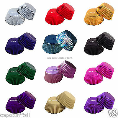 Foil Cupcake Cases Metallic Quality baking party liners Cup cake colours wedding