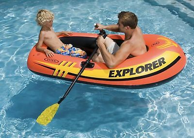 Intex Explorer 200 Inflatable Two Person Boat Set with Paddles & Pump