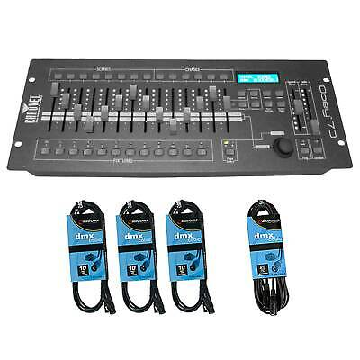 Chauvet Obey 70 DMX Lighting Controller and DMX Cables Pack