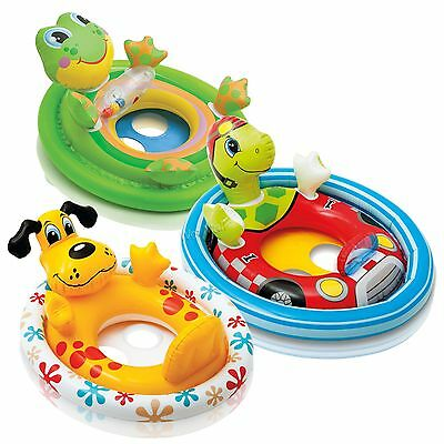 Intex See Me Sit Rider Inflatable Swimming Pool Float Toddler Ring Raft Boat