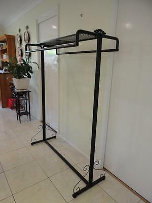 Iron Clothes Free Standing Rack Display Home Fashion Shop Shelf Rods Copper Red