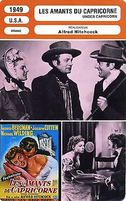 Movie Card. Fiche Cinéma. Les amants du Capricorne / Under Capricorn (USA) 1949