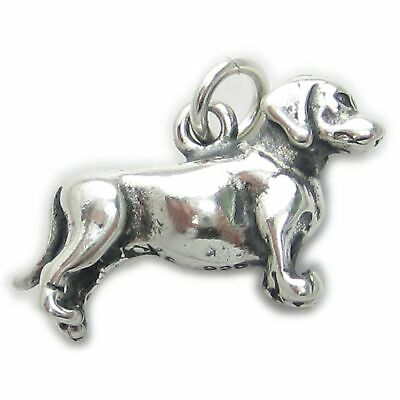Airedale Dog sterling silver charm .925 x 1 Airedales Dogs charms SSLP4718 Potasj