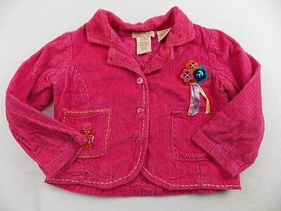 3-4y TICKITTYBOO girls funky pink soft cord designer jacket hardly worn