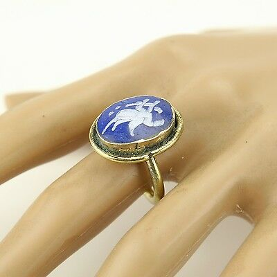 Lapis RING Hand Carved Kuchi Bellydance Tribal (size 6,6.5,7,7.5,8,8.5,9 ) 851a1