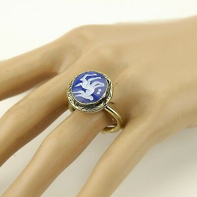 Lapis RING Hand Carved Kuchi Belly Dance Tribal (size 6.5,7,7.5,8,8.5 ) 851a2