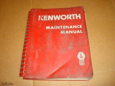 Original Kenworth 1960's Maintenance Manual Bm213
