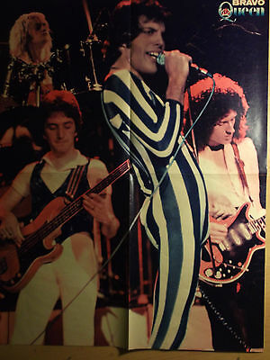 1 german poster QUEEN FREDDIE MERCURY NOT SHIRTLESS GAY INT. ROCK BOY BAND BOYS