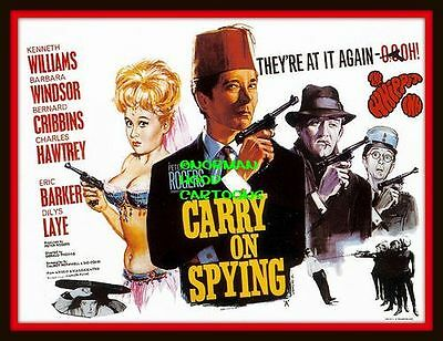 """CARRY ON SPYING FILM - MINI-POSTER PRINT 7"""" x 5"""""""