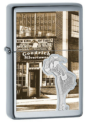 Zippo Lighter: Windy, Engraved 1937 Vintage - High Polish Chrome 28538