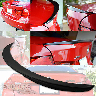 Matte Black Painted BMW 3-Series F30 Performance Boot Trunk Spoiler ABS 2016