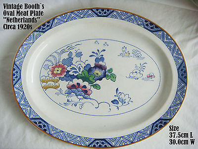 Vintage BOOTH`S  Netherlands Pattern meat plate Circa 1920s