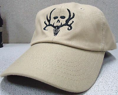 BONE COLLECTOR Logo Kaki Cap Velcro Adjustable One Size Fits ALL