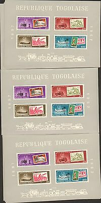 {BJ STAMPS}  TOGO  C34a 65th Anniversary Mail Service  Lot of 25