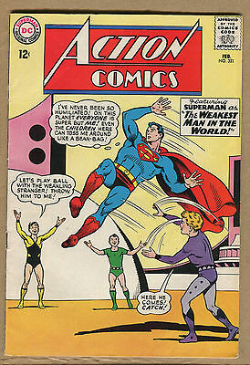 Action Comics #321 - The Weakest Man in the World! 1965 (Grade 7.5) WH