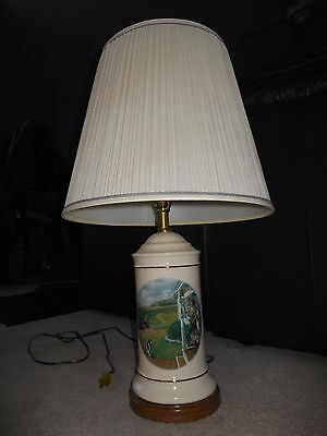 "Vintage 1993 John Deere Table Lamp...""Dinner Time"" Walter Haskell Hinton Classic"