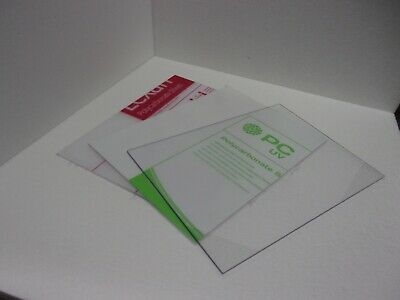 1 mm A4 Clear Polycarbonate Sheet 297 mm x 210 mm Virtually unbreakable Glazing