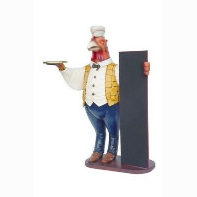 Rooster Butler Menu Sign- Big Chicken - Life Size Resin Statue