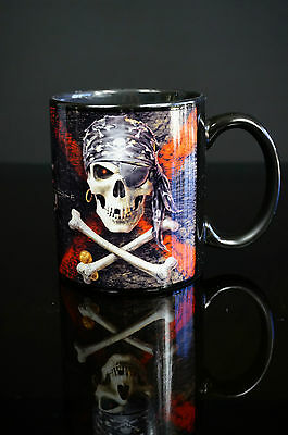 Anne Stokes Coffee Mug Cup bone China Gothic prayer Pirate Skull fantasy