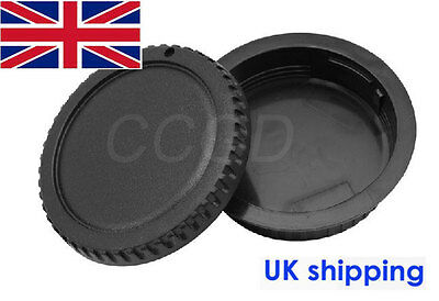 Camera Body Cap + Rear Lens Cap Cover for all Canon EOS Camera and EF-S Lenses