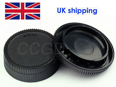 Camera Body Cap + Rear Lens Cap Cover for all Nikon DSLR Camera and AF-S Lens