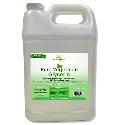 Pure Organic One  Gallon Vegetable Glycerin USP VG Kosher 99.9% Pure Food Grade