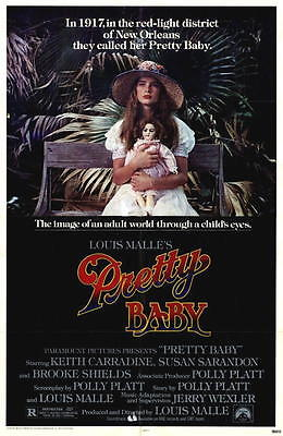 "1978 Brooke Shields ""Pretty Baby"" Movie Poster 27"" x 41"" One-Sheet"