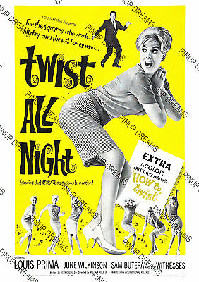 Movie Wall Art Poster Vintage Twist All Night Rock n Roll Film re-print