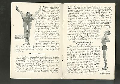 1921 Booklet Body Building Exercise Booklet Walter Camp Daily Dozen