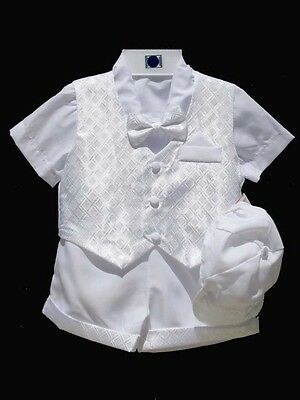 Boys Infant, Todder, Satin Christening Baptism Outfit Set, Size: X-Small to 4T