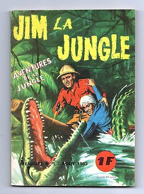 JIM LA JUNGLE n°1 - EDI EUROP août 1963 - TBE
